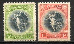 AMERIQUE CENTRALE - BARBADE - (Colonie Britannique) - 1920 - N° 118 Et 119 - (Anniversaire De La Victoire) - Antilles