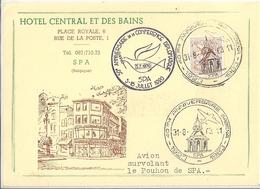 Belgique Carte Affranchie SPA Hôtel Central Des Bains - Belgique