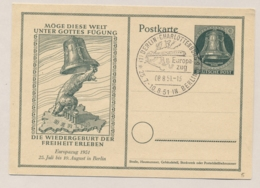 Berlin - 1951 - Freiheitsglocke Klöppel Links - Sonderpostkarte Europa Zug - Postkaarten - Gebruikt
