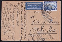 German Reich, Zeppelin Card, 2 RM, Friedrichshafen, 10. OKT 1928, With LZ 127 To New York, Sieger: SI 21 A - Briefe U. Dokumente