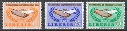 Liberia 1965 Mi# 635-37** INTERNATIONAL COOPERATION YEAR - Liberia