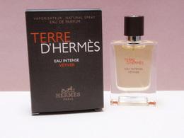 NEW 2018!!!! MINIATURE Eau De Parfum TERRE D'HERMES Eau Intense Vetiver  VAPO 12,5 Ml - Miniatures Hommes (avec Boite)