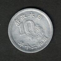 Japan Y#68 1945 10 Sen - Japon