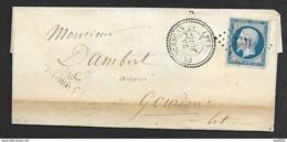 Lot Et Garonne-Lettre-PC 1331 De Francescas Sur N°14A - Marcophilie (Lettres)
