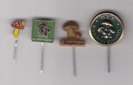 4 Pins Pin Badge Anstecknadel Mushroom - Food
