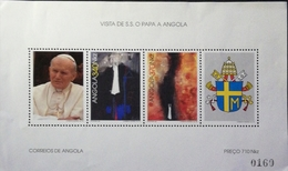 Angola 1992 Visit Of Pope John Paul II To Angola S/S - Angola