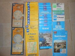 Lot De 25 Cartes Michelin, IGN- Détail Ci-dessous - - Cartes Routières