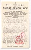 DP Emelia De Ceuninck ° Rumbeke Roeselare 1882 † Kachtem Izegem 1936 X J. De Brabant - Images Religieuses
