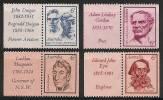 AUSTRALIA 1970 - Famous Australian Persons - Mi 457-60 With TAB MNH ** Cv€8,00 K105a - 1966-79 Elizabeth II