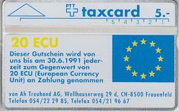 SWITZERLAND - PHONE CARD - °TAXCARD SUISSE  ***  VON AH - 20 ECU *** - Switzerland