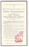 DP Elvire DeCeuckeleire ° Oostende 1888 † Noordschote Lo Reninge 1939 X Remi Andries - Images Religieuses
