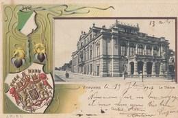 VERVIERS: Le Théâtre (carte Gaufrée) - Verviers