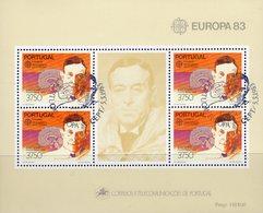 CEPT Erfinder 1983 Portugal Block 40 O 11€ Neurologe Moniz Nobel-Preis 1949 Hb Ss Bloc M/s Medicine Sheet Bf Europa - Europa-CEPT