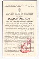 DP Julius DeCadt / Moerman ° Noordschote Lo Reninge 1880 † 1937 X S. DeNecker - Images Religieuses
