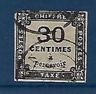 """FR Taxe YT 6 """" 30c. Noir Non Dentelé """" 1871-78 Oblitéré - Taxes"""