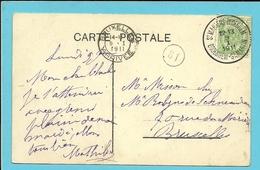83 Op Kaart Met Stempel ST-MARTENS-BODEGHEM / BODEGHEM-ST-MARTIN (28mm) - 1893-1907 Armoiries