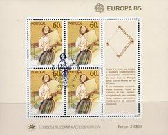 CEPT 1985 Jahr Der Musik Portugal Block 47 O 11€ Tänzerin Mit Tamburin Bloque Hb Ss Music Bloc Art Sheet M/s EUROPA - Europa-CEPT