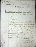 49 ANGERS VOLS DE BOIS A LA REPUBLIQUE  GUERRES VENDEENNES  REVOLUTION FRANCAISE  1798 - Historical Documents