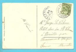 83 Op Kaart Met Stempel ST-GENESIUS-RHODE / ROHDE-ST-GENESE (28mm) - 1893-1907 Coat Of Arms