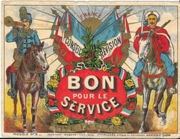 """MILITARIA  Conseil De Révision  """" Bon Pour Le Service """" Modele N° 3 - Historical Documents"""
