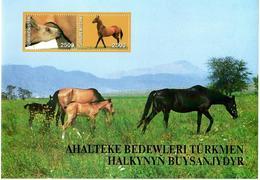 Turkmenistan.2005 Horses(Mountains). 4 S/S, Each Of 2v X2500  Michel # BL25-28(189-96) - Turkménistan