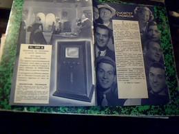 Publicité  Catalogue DUCRETET  THOMSON Photos De Celebrites  D Epoque  Bourvil Tino Rossi Gabin  M. Chevaler..cerdan... - Publicités