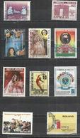TEN AT A TIME - BOLIVIA - LOT OF 10 DIFFERENT COMMEMORATIVE 5 - USED OBLITERE GESTEMPELT USADO - Bolivie