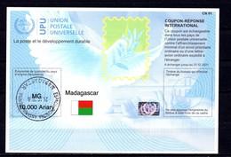 9799 IRC IAS CRI - International Reply Coupon - Antwortschein T41 Madagaskar Madagascar MG 20170802 AA Mit Stempel - Madagascar (1960-...)