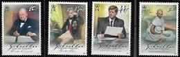 GIBRALTAR  2008 Europa Écrire Une Lettre Sir Winston Churchill Amiral Nelson John F Kennedy Mahatma Gandhi, 4 Val Mnh - Europa-CEPT