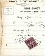 Travaux D'élagage GANOT René - 7 Place Saint Médard - BRUNOY - 1939 -arrachage D'arbres - Agriculture