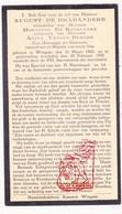 DP Gemeenteontvanger - August De Brabandere ° Wingene 1862 † 1935 X H. De Ketelaere Xx A. Vanden Berghe - Images Religieuses
