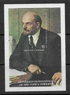 Sao Tome Et Principe 1977 Revolution Russe URSS Lénine Bloc St Thomas & Prince Russian Revolution USSR Lenin ** - Sao Tome Et Principe