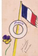 HANDPAINTED POSTCARD PAR JOSE LOUSTALAN AVEC  BRILLANTEUSE, SCINTILLANTE CIRCULEE 1906- BLEUP - Douane