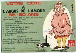 CPM - Votre Cote A L'argus De L'amour 55-60 Ans - Humor
