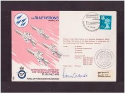 BLUE HERONS HUNTER G.A. 11 FLOWN COVER  SIGNED P CADORET 20 7 1976 - Aerei