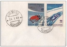 ITALIA - 24 1 1966 FDC CAMPIONATI MONDIALI BOB - Inverno