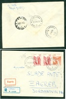 Yugoslavia 1959 Bahnpost Railway Post Maribor-Zagreb A 29 Recommended Letter From Ljubljana To Zagreb - Covers & Documents