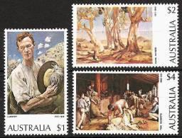 AUSTRALIA 1974 - Australian PAINTINGS 3v - ** MNH Neuf Cv €10,00 K122 - 1966-79 Elizabeth II