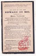 DP Edward De Bel ° Damme 1847 † 1926 X Marie Verbouw - Images Religieuses