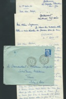 """Lac, Affranchie Par 15 FR Gandon Oblitéré Bureau De Distribution  """" La Chapelle Blanche , (37) """" En Aout 1954  L L X0805 - 1945-54 Marianne De Gandon"""