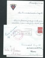 """Lac, Affranchie Par  FM Yvert N°12, Cachet Rouge """"403 Regiment D'artillerie""""  + Lettre à Entete    Daté En 1960 L X0806 - Marcophilie (Lettres)"""