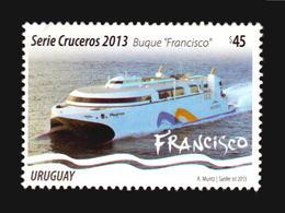 TOURISMUS, BOOTE FRANCISCO ( AFTER POPE )  KREUZFAHRTEN HAFEN URUGUAY, SKYLINE, ARCHITEKTUR, MNH ** - Schiffe
