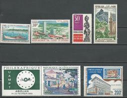 COTE IVOIRE Scott 277, 278, 279, 280, C37, C40 Yvert 284, 285, 286, 287, PA41, PA44 (6) ** Cote 18,00 $ 1969 - Côte D'Ivoire (1960-...)