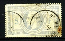 33 -  5F Empire Lauré - Oblitéré Cachet à Date - Cote 1200 Eur. - 1863-1870 Napoléon III Lauré