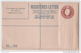 GRANDE BRETAGNE ENTIER POSTAL LETTRE RECOMMANDEE 3 PENCE NEUF GEORGE V - 1902-1951 (Rois)