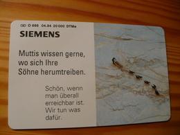Phonecard Germany O 686 04.94. Siemens 20.000 Ex. - O-Series : Customers Sets