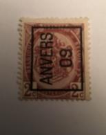 1909 - 2c Anvers - Prematasellados