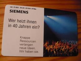 Phonecard Germany O 683 04.94. Siemens 20.000 Ex. - O-Series : Customers Sets