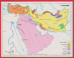 Le Peuplement En Arabie Saoudite, Syrie, Turquie, Iran, Irak, Afghanistan, Pakistan, Israël ... 1970. - Vieux Papiers