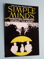 SIMPLE MINDS Live At Murrayfoeld Edinburgh ( Regular Music Festivals ) Anno 19?? ( See/zie/voir Photo ) ! - Chanteurs & Musiciens